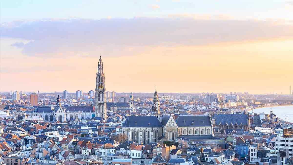 Antwerp Skyline in Belgium