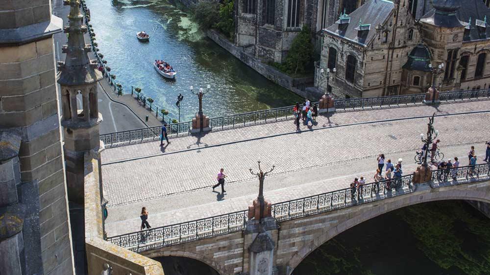 St Michael's Bridge in Ghent, Belgium