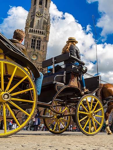 Horse and Carraige Ride in Bruges, Belgium