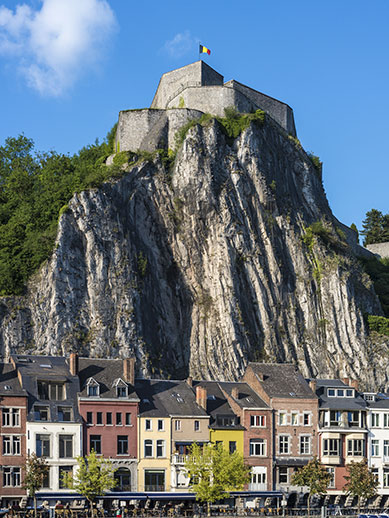 The view of the citadel in Dinant