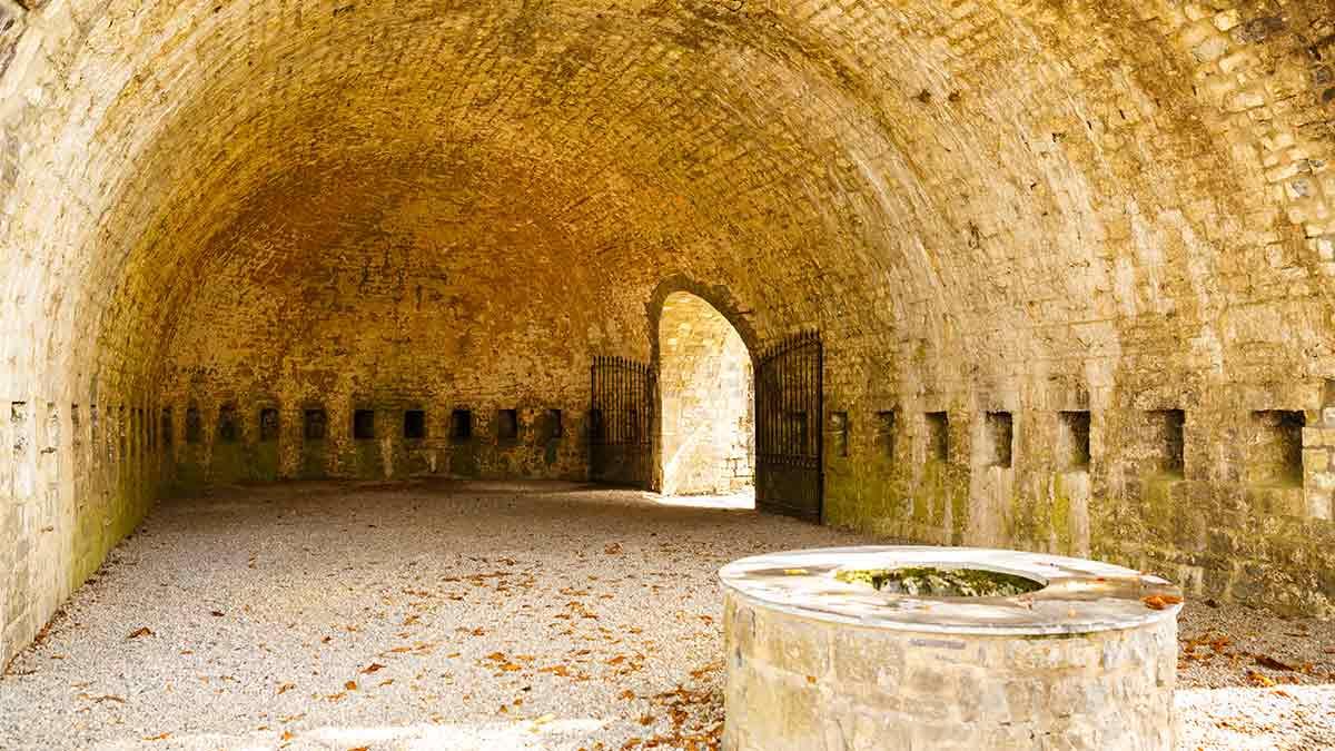 Courtyard Citadel in Dinant, Belgium