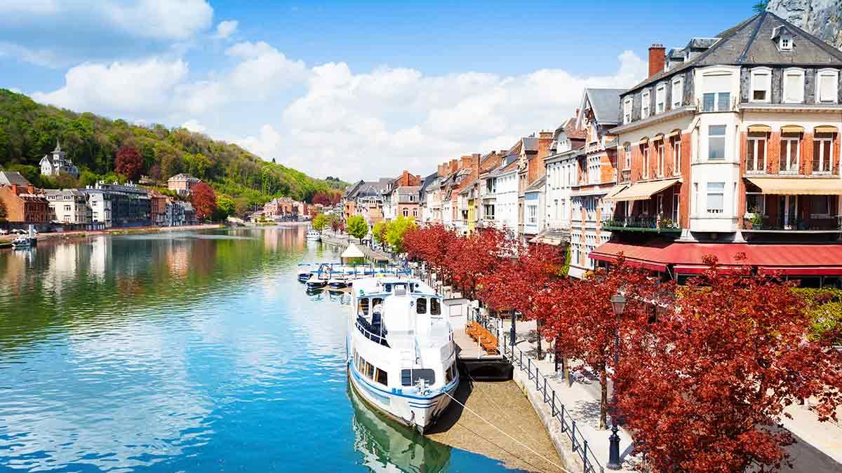 River in Dinant Belgium