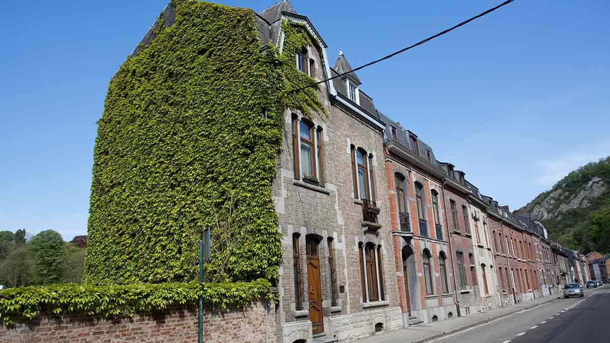 Streetview in Dinant, Belgium