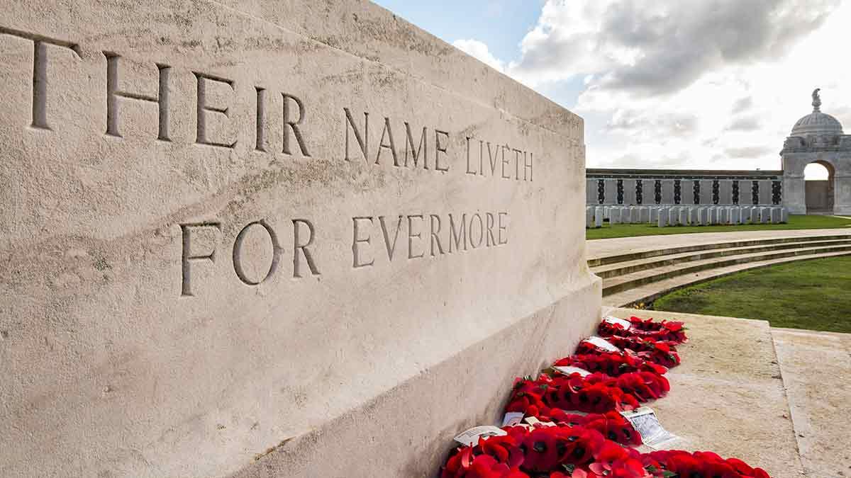 War memorial at Flanders Fields