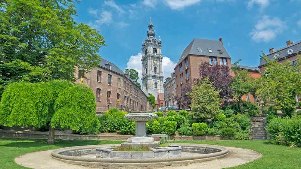 Baroque Belfry in Mons Belgium
