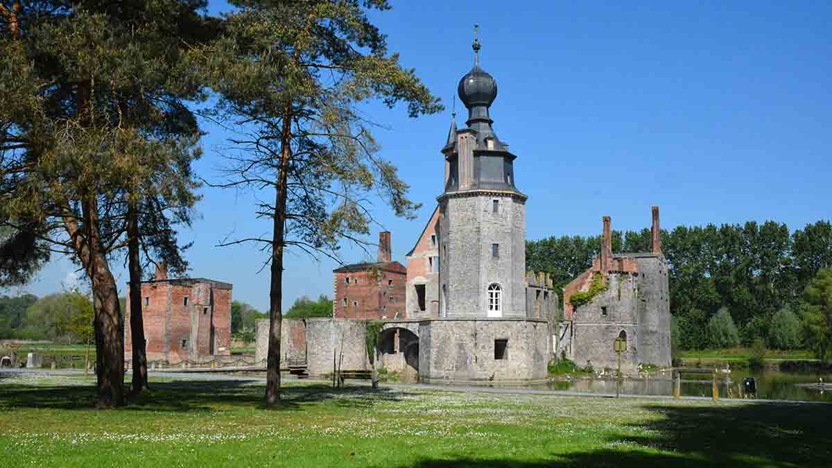 Havre Castle in Mons Belgium