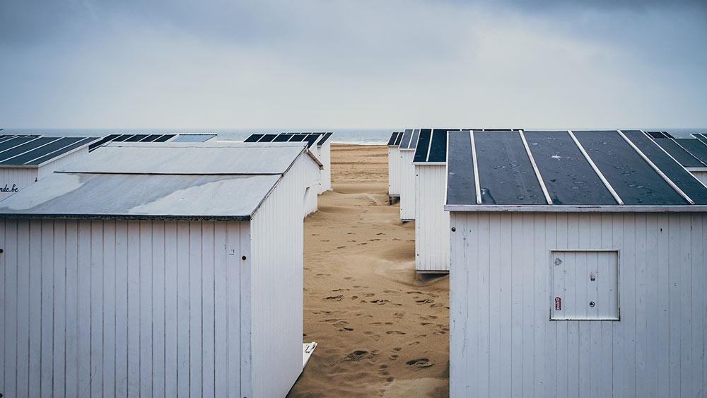 Beach huts in Ostend