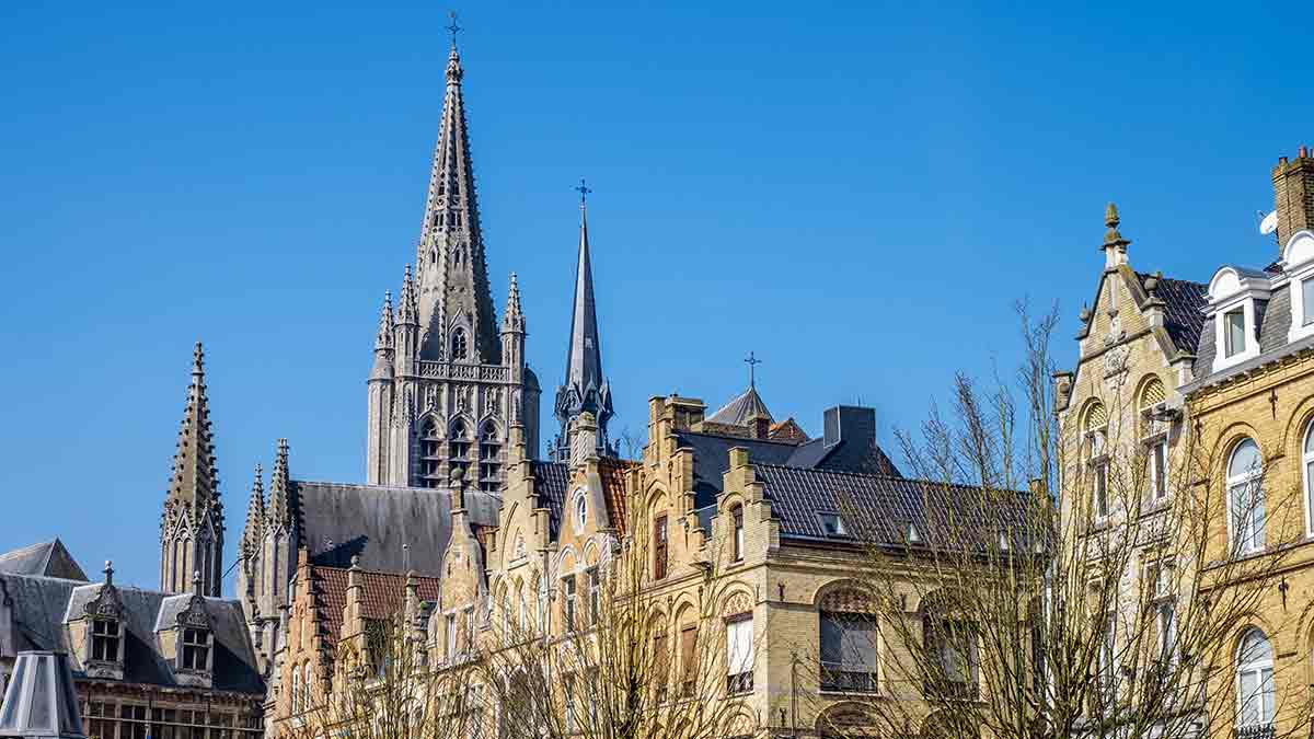 Flemish Buildings in Ypres, Belgium