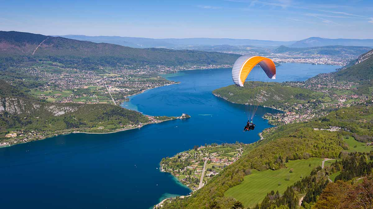 Paragliding at Lake Annecy, France