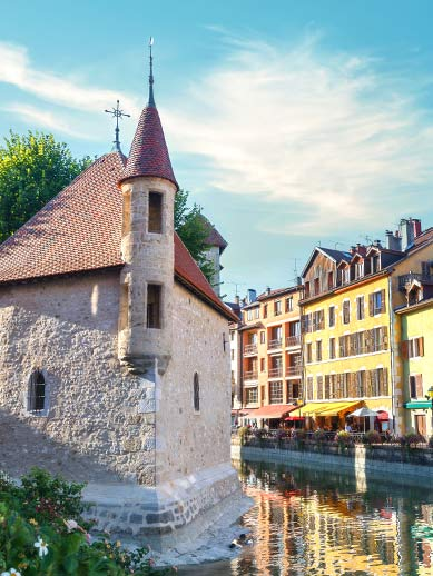 Palais Isle in Annecy, France