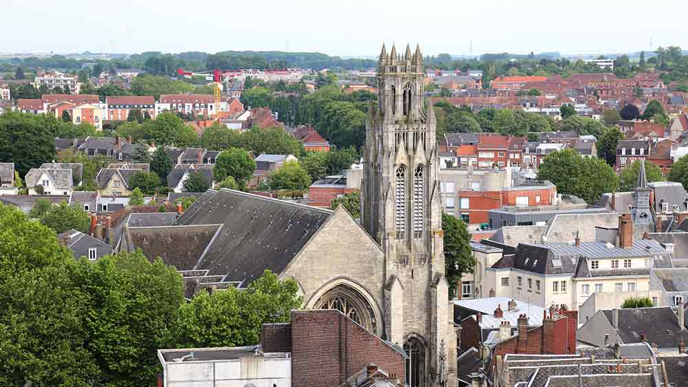 Cathedral Rooftops in Arras, France