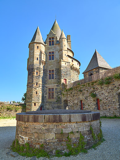 Medieval castle in Brittany, France