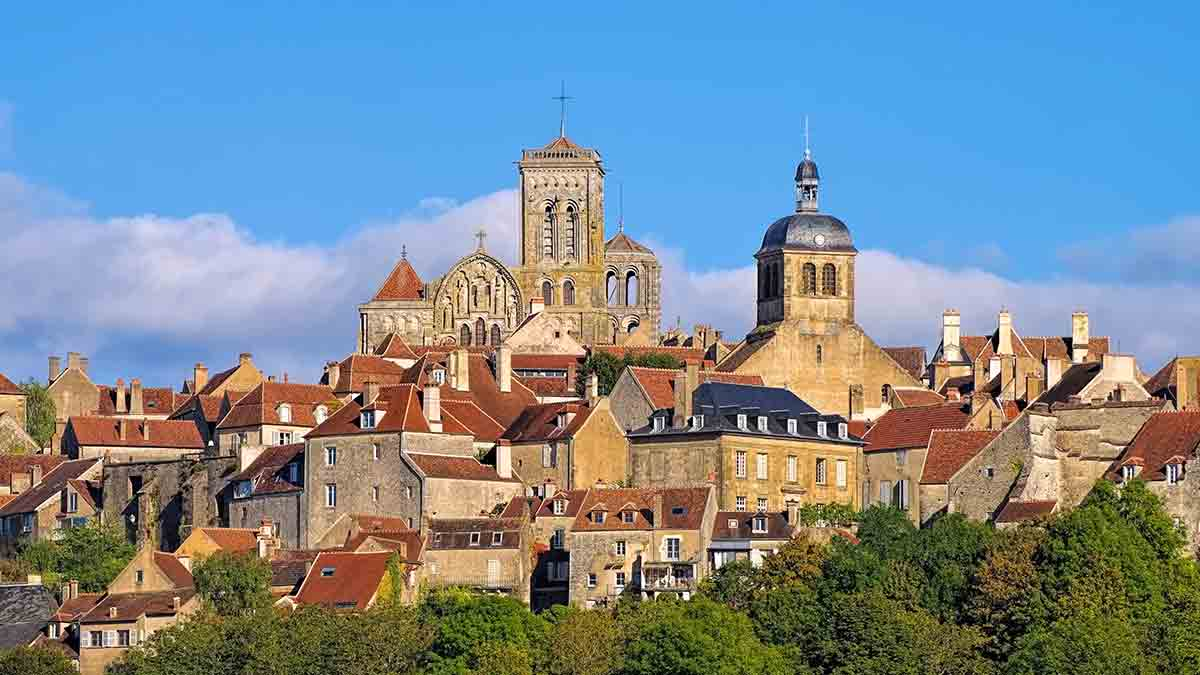 Vezelay town in Burgundy, France