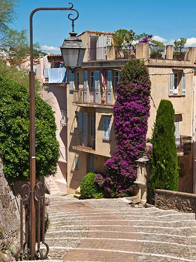 Le Suquet, Old Town Street in Cannes