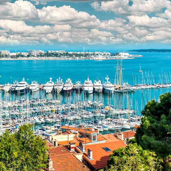 The old port of Cannes in France