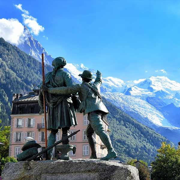 Balmat Saussure Monument in Chamonix