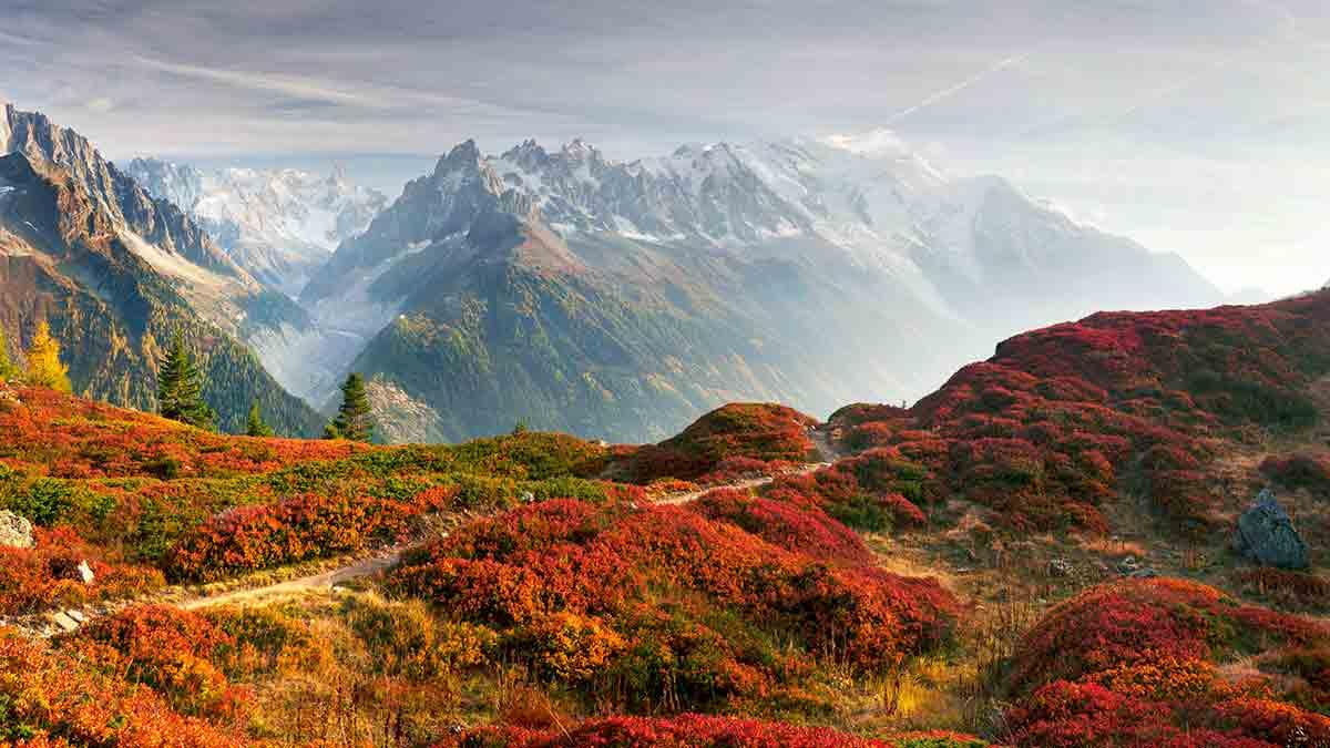Mont Blanc Chamonix during Autumn