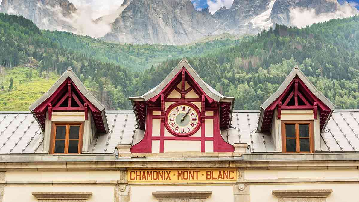 Old Chamonix Train Station in France