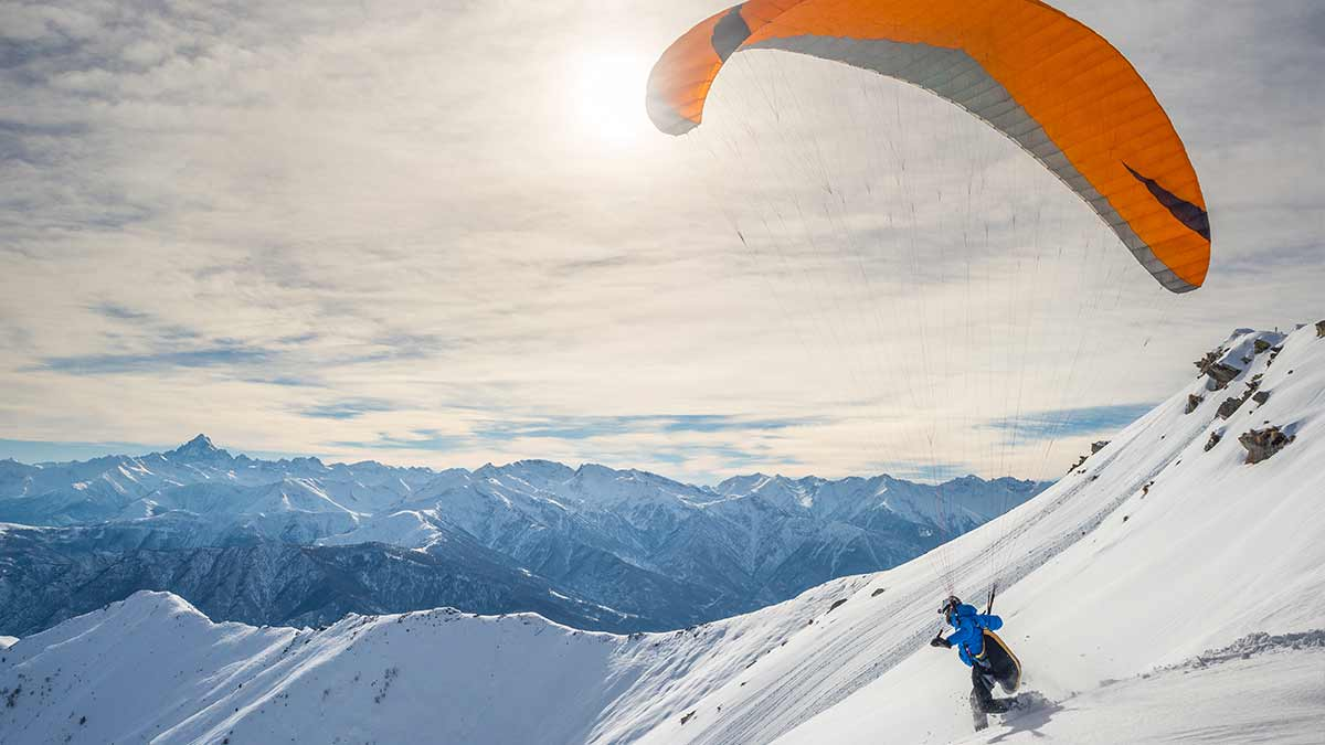 Paragliding in the French Alps, Chamonix
