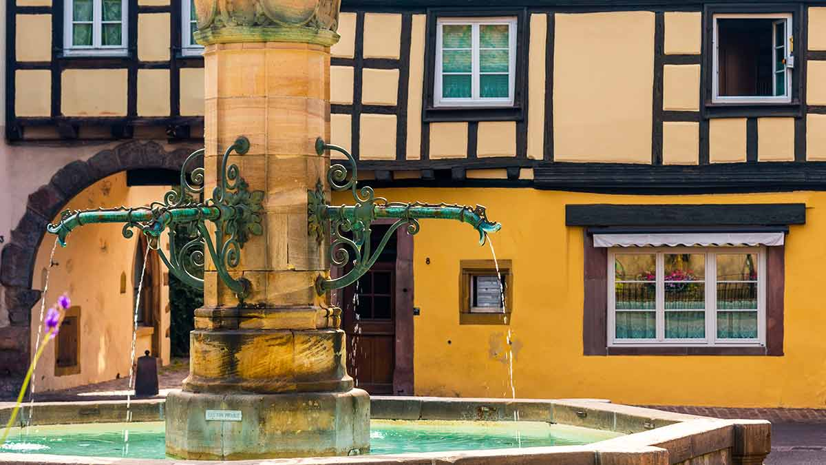 Colmar fountain in France