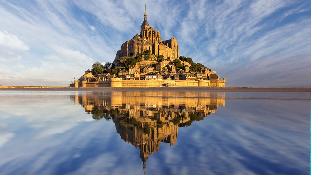 Le Mont Saint Michel in Normandy, France