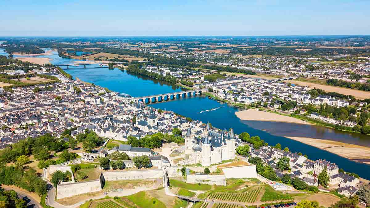 Saumur City in Loire Valley