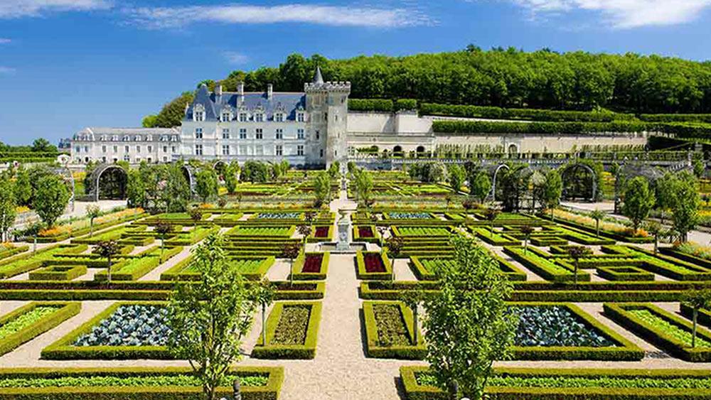 Loire Valley Villandry Castle And Gardens
