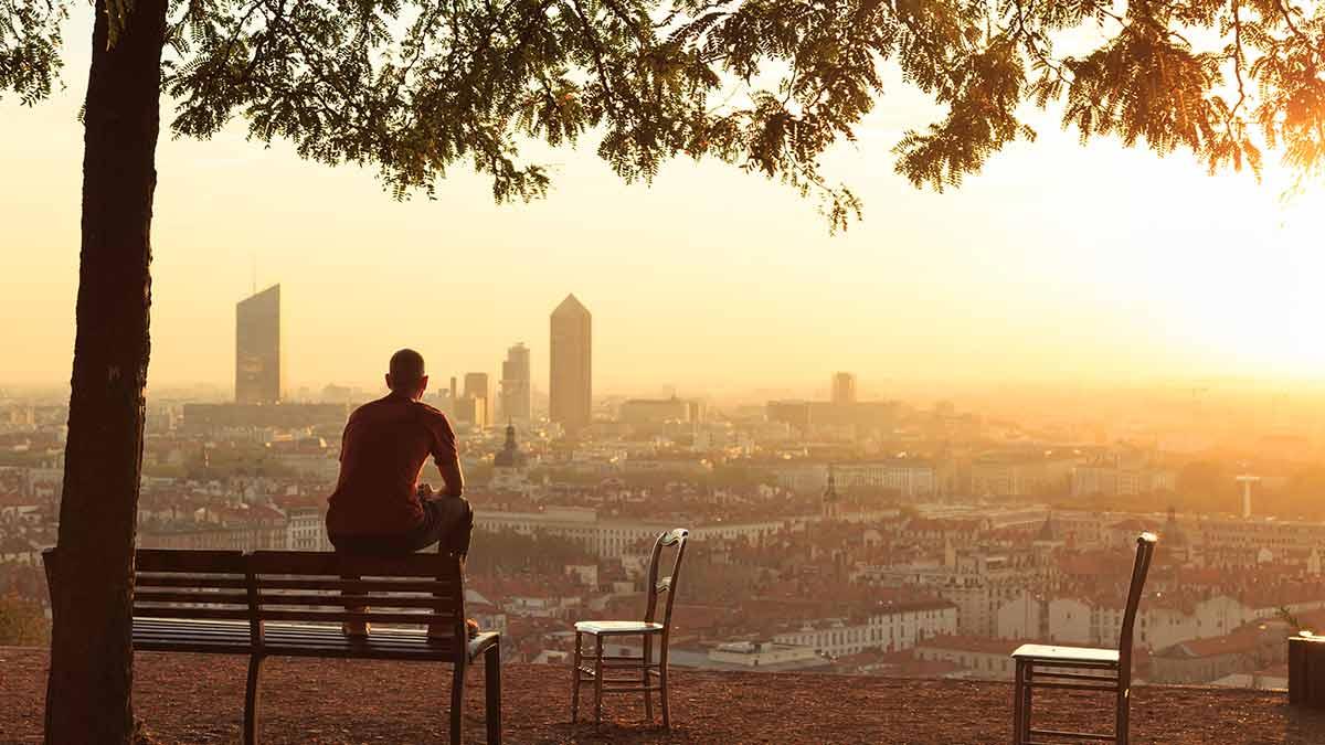Skyline in Lyon, France