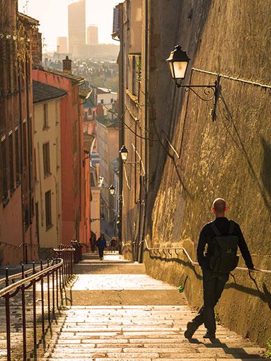 Walking in Lyon