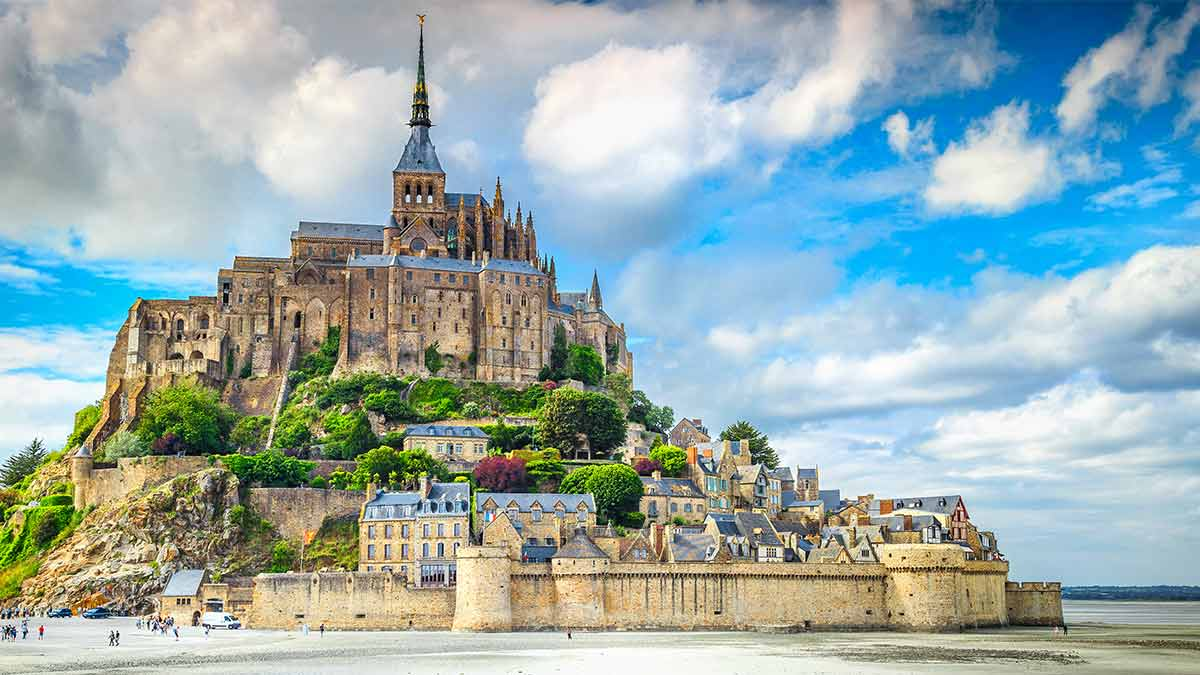 Mont Saint Michel Cathedral in Normandy, France