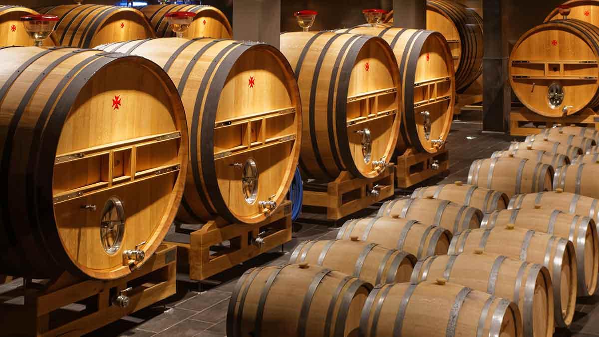 Barrels Champagne Cellar in Reims