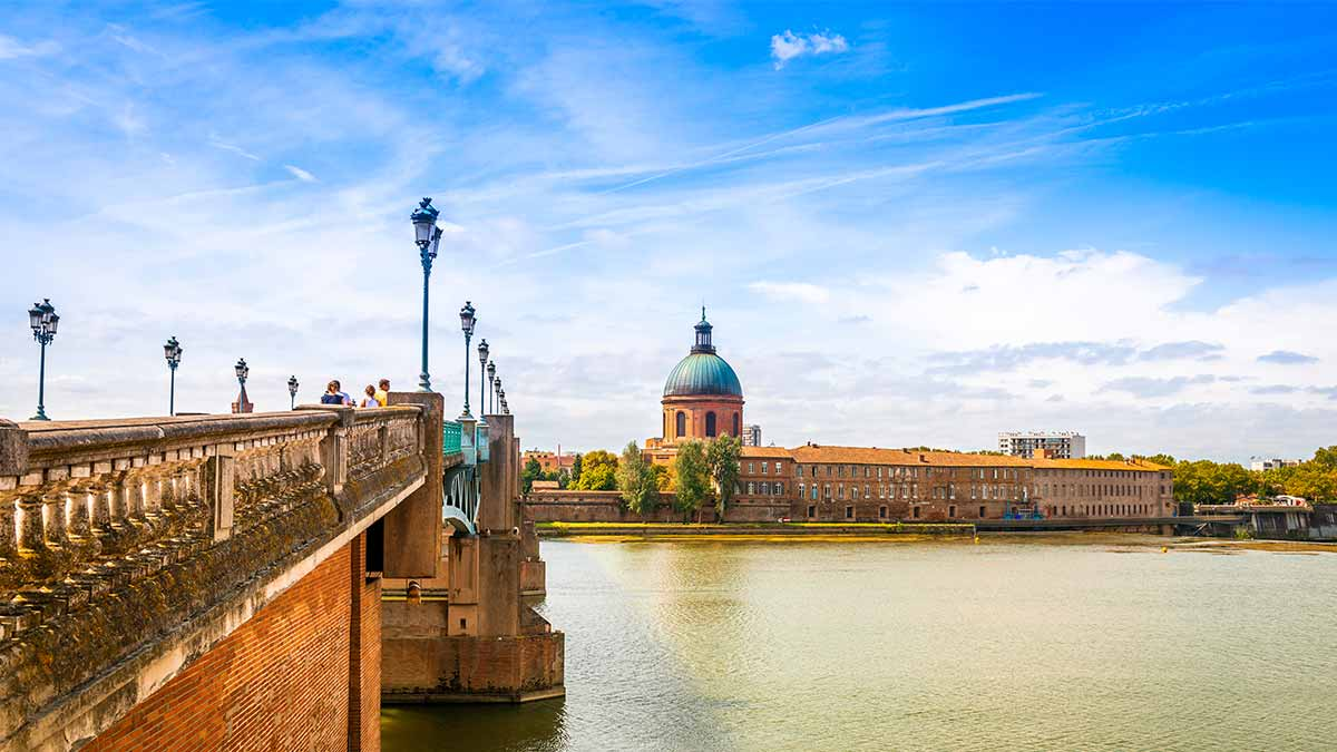 Garonne River in Toulouse, France