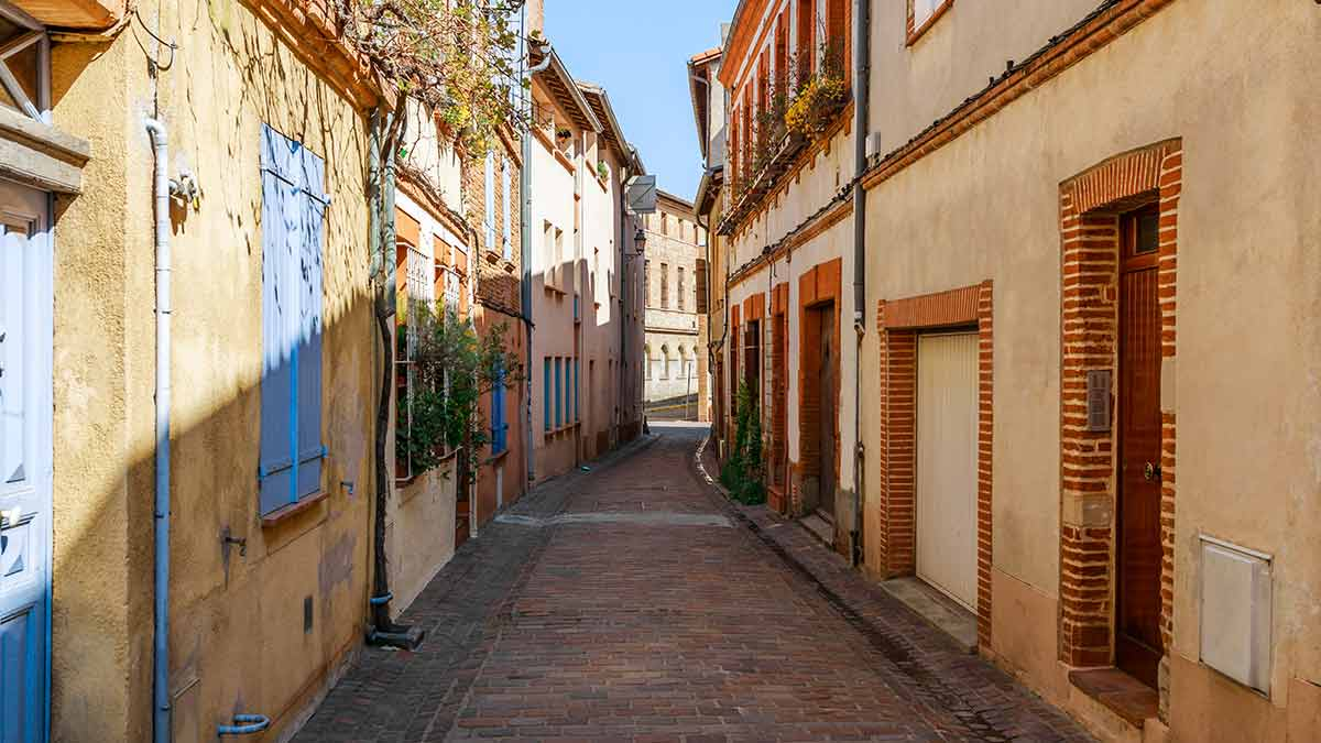 Toulouse street view in France