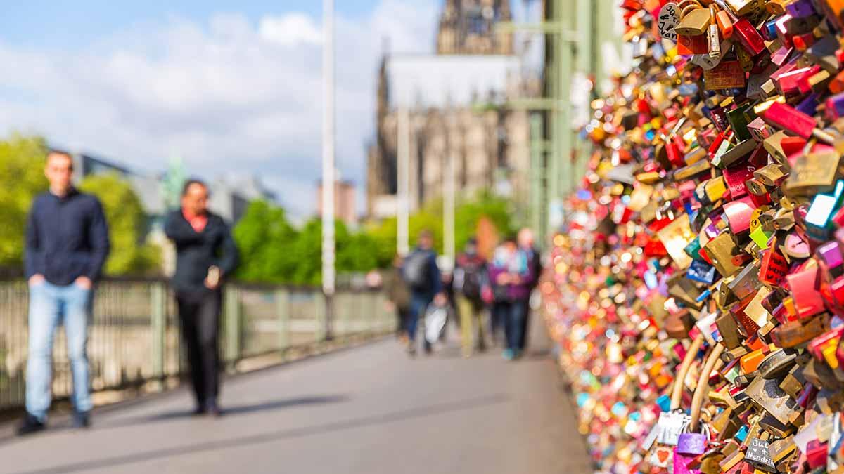 Bridge of locks in Cologne