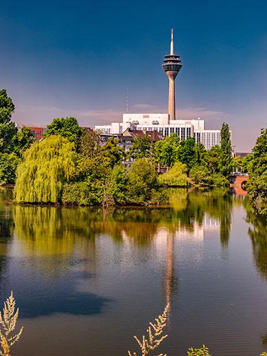 Kaiserteich Park in Dusseldorf, Germany