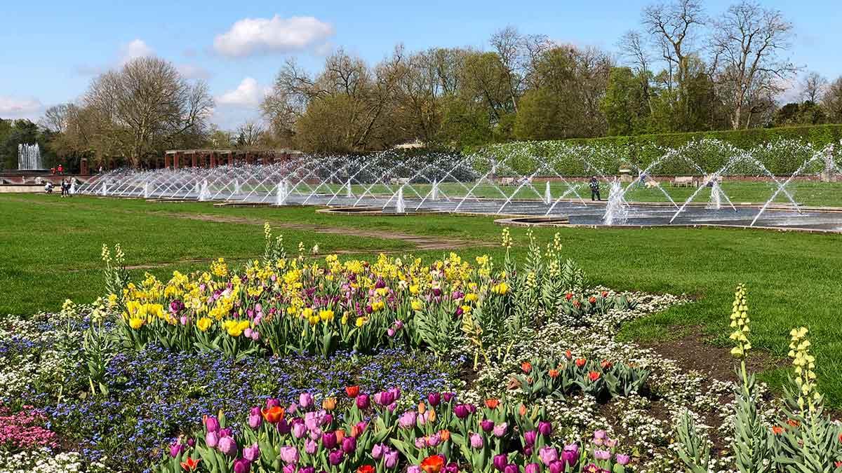 Nordpark in Dusseldorf Germany