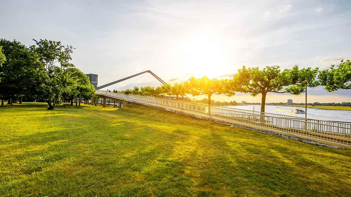 Rhine Park in Dusseldorf, Germany