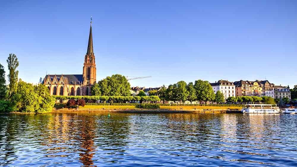 Waterfront in Frankfurt Germany