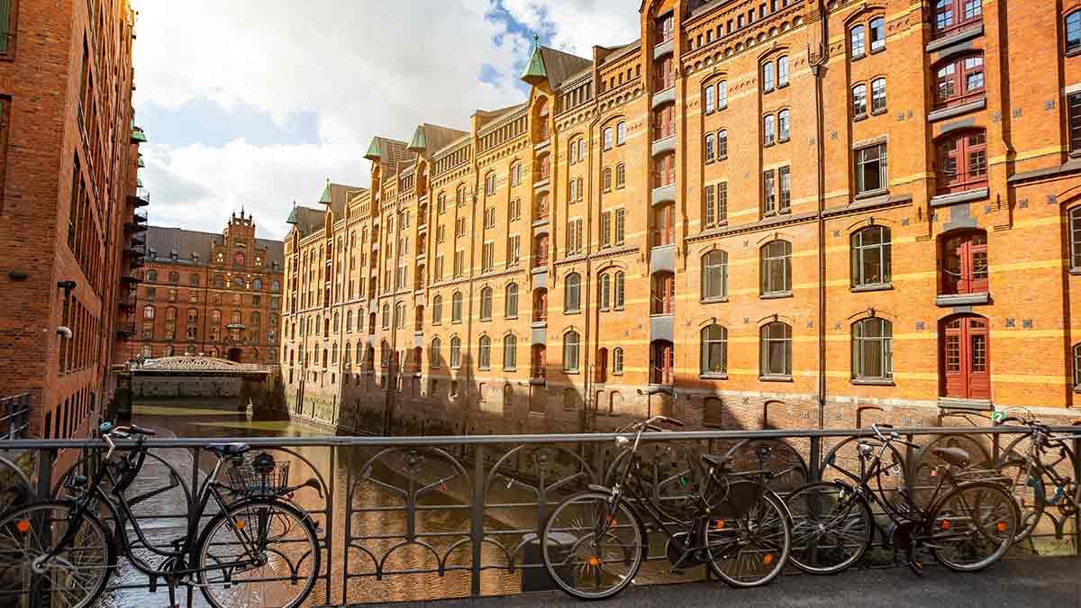 Hafen City in Hamburg, Germany