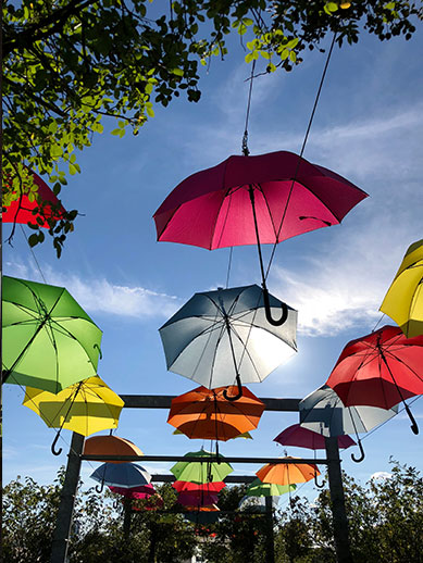 Colourful umbrellas in Stuttgart