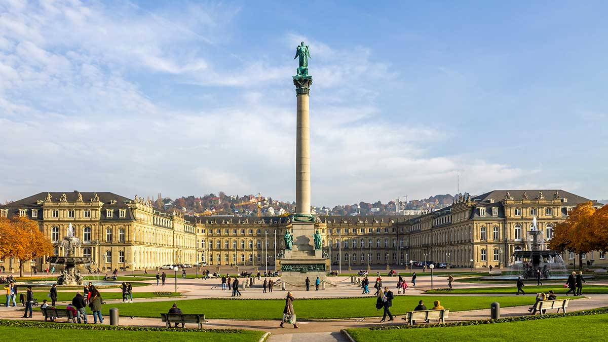 Castle Square in Stuttgart