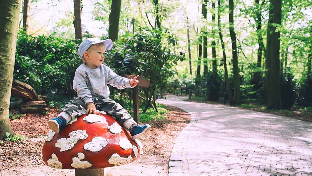 Child in Efteling theme park, Holland