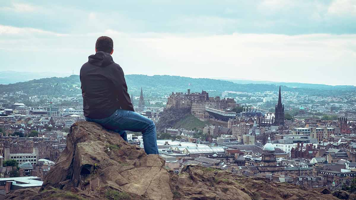 Edinburgh skyline in Scotland
