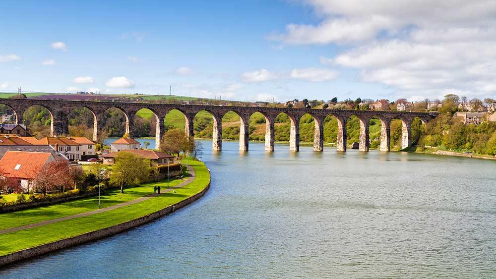 Royal Border Bridge in Northumbria, UK attraction
