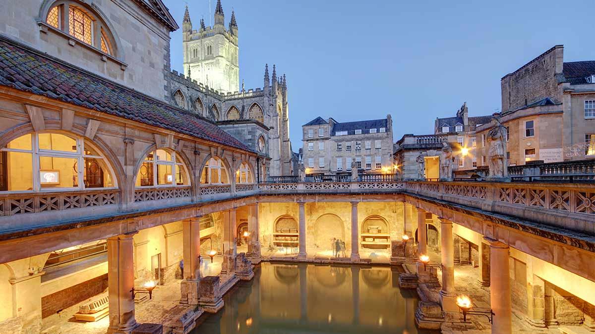 Old Roman Baths in Bath