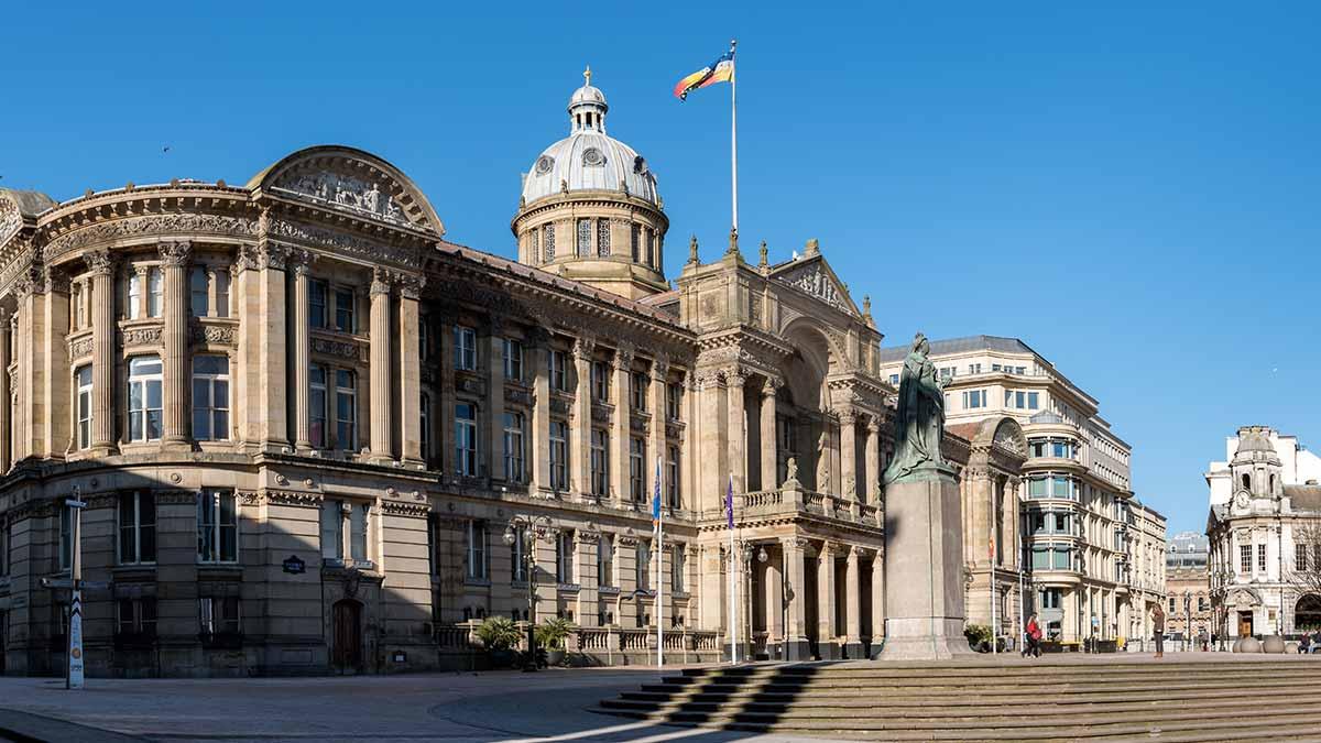 Victoria Square in Birmingham