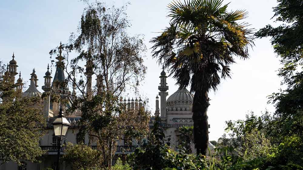 Jardins du pavillon royal à Brighton