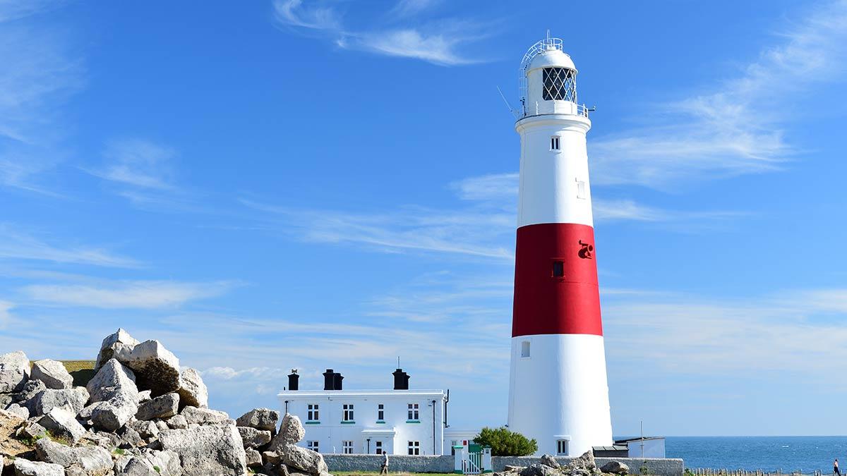 Portland Bill-Leuchtturm in Dorset