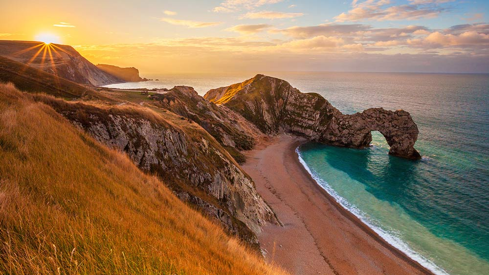 Durdle Door in Dorset, England