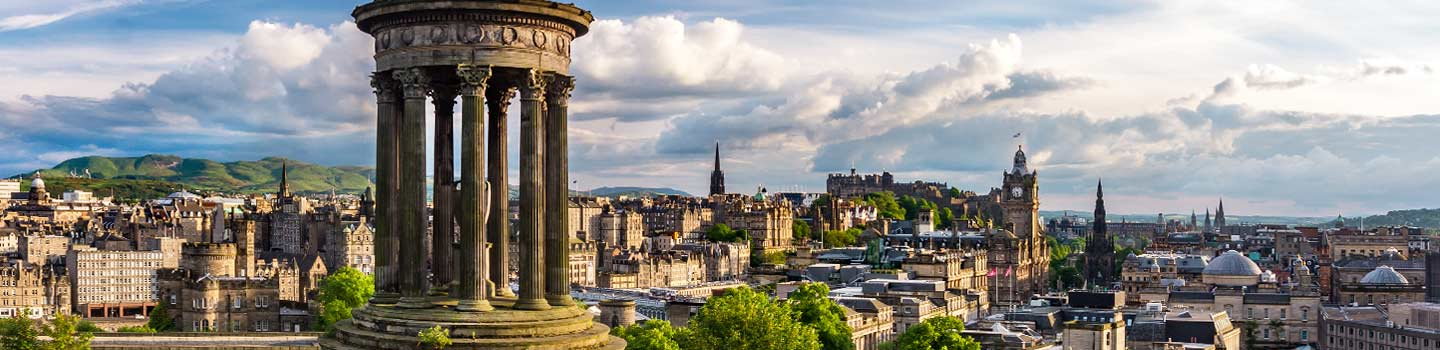Calton Hill in Edinburgh, Schottland